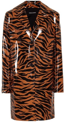 Kwaidan Editions Tiger-print vinyl coat