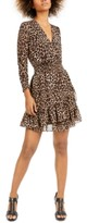 Michael Kors Michael Smocked Leopard-Print Dress