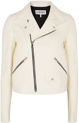 Loewe Off-white Leather Biker Jacket