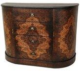 Oriental Furniture Elegant, Distinctive, Unique, 43-Inch Olde-Worlde European Design Four Drawer Credenza Hall Chest