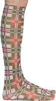 Thumbnail for your product : Chopova Lowena Green & Red Mesh Plaid Socks