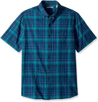 Michael Bastian Men's s/s Crinkled Plaid Woven Sportshirt