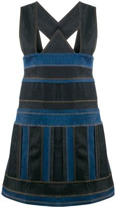 NO KA 'OI Pinafore Denim Fitted Dress