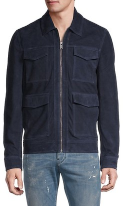 Saks Fifth Avenue Full-Zip Suede Trucker