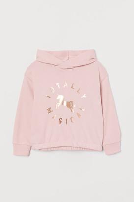H&M Printed Hoodie - Pink