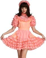 Gocebaby Sissy Girl Lockable Maid Dress Stain Crossdress Uniform Costume (M)