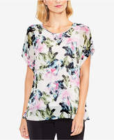 Vince Camuto Floral-Print Layered Top