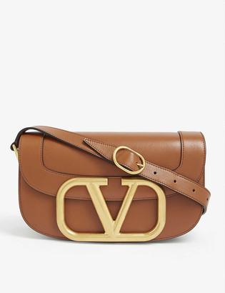 Valentino SUPERVEE V-ring logo leather satchel bag