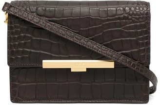 Lancaster Exotic crocodile-effect crossbody bag