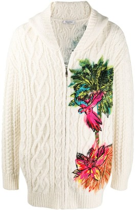 Valentino Jungle Embroidered Knitted Jacket