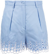 Carven embroidered dots shorts - women - Cotton - 38