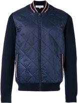 Salvatore Ferragamo college jacket - men - Silk/Virgin Wool - M