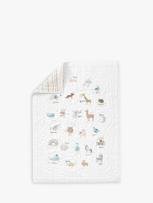 Pottery Barn Kids Quincy Quilted Bedspread, 91x 127cm, White