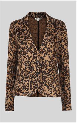Whistles Animal Jacquard Jersey Jacket