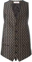 A.F.Vandevorst bird jacquard waistcoat - women - Polyester - 36