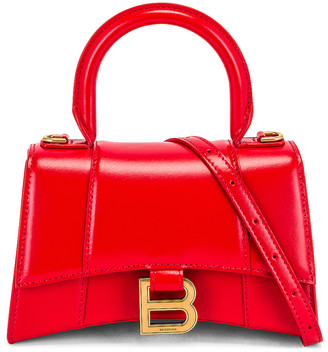 Balenciaga XS Hourglass Top Handle Bag in Bright Red | FWRD