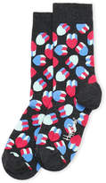 Happy Socks 3D Hearts Crew Socks