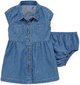 Arizona Short SleeveChambray Shirt Dress - Baby Girls