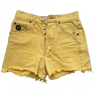 Avirex Yellow Denim - Jeans Shorts for Women Vintage
