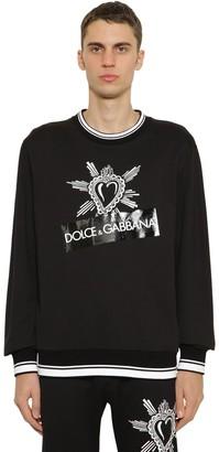 Dolce & Gabbana Printed Cotton Jersey Sweatshirt