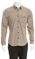 Burberry Suede-Trimmed Woven Shirt