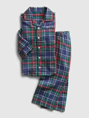 Gap babyGap Flannel Plaid PJ Set