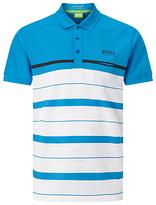 Hugo Boss Boss Green Pro Golf Paule Pro 1 Polo Shirt, Open Blue