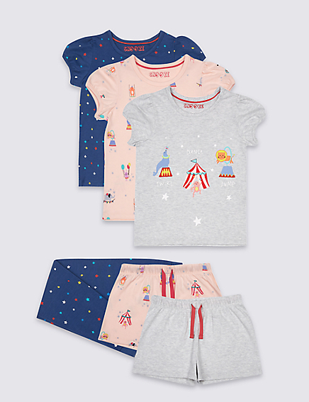 Marks and Spencer 3 Pack Circus Pyjamas (9 Mths - 8 Yrs)