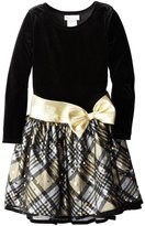 Bonnie Jean Big Girls' Plaid Hipster Dress (Gold)