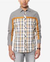 Sean John Men's Melange Colorblocked Shirt