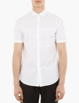 Wooyoungmi White Short-Sleeved Cotton Shirt