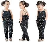 Mrs.Baker'Home Infant Baby Girl Lovely Floral Love Heart Hammock Belt Jumpsuits Bodysuit Outfit