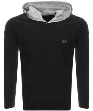 Boss Business BOSS HUGO BOSS Hooded Long Sleeve T Shirt Black