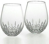 Waterford Lismore Nouveau Crystal Stemless Deep Red Wine Glass Pair