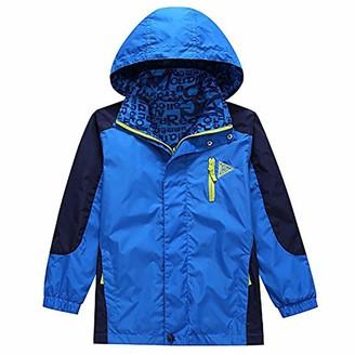 KiD1234 Boys Waterproof Lightweight Breathable Wind Resistant Outdoor Sports Jacket