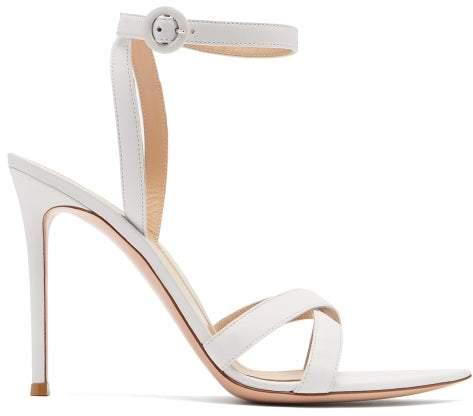 Gianvito Rossi Alixia 105 Leather Sandals - Womens - White