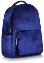 Skinnydip **navy velvet charlie backpack