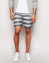 Minimum Short With Horizontal Stripe