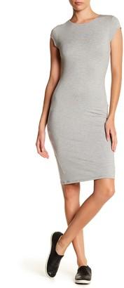 Velvet Torch Cap Sleeve Bodycon Dress