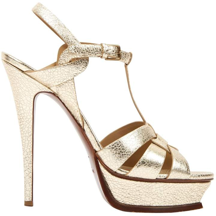 28a09187 Tribute Gold Leather Sandals