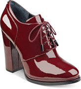 GUESS Women's Vorsila Block-Heel Lace-Up Shooties
