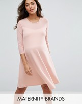 Bluebelle Maternity Swing Dress With Mesh