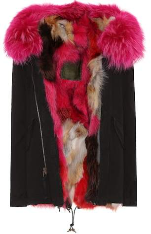Mr & Mrs Italy Exclusive to mytheresa.com – Fur-trimmed cotton parka