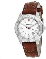 Wenger Alpine 70490 Women's Brown Leather and Stainless Steel Watch