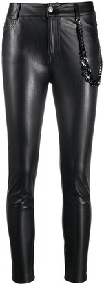 Ermanno Scervino Coated Mid-Rise Skinny Trousers