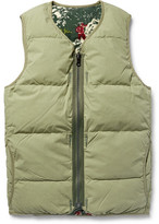 Visvim Reversible Quilted Cotton-Blend Flannel Down Gilet