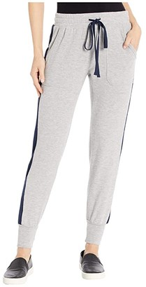 Michael Stars Madison Brushed Color Block Tiffany Slim Jogger (Heather Grey/Admiral) Women's Casual Pants