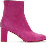 Maryam Nassir Zadeh Pink Suede Agnes Boots