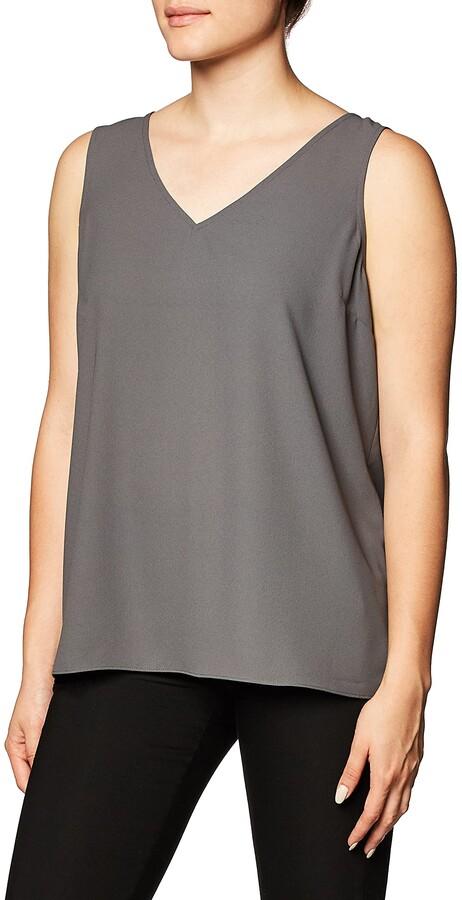 Lark & Ro Amazon Brand Women's Standard Sleeveless Layering Tank Top: Crew and V-Neck