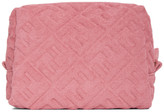 Fendi Pink Terrycloth Small Forever Beauty Pouch